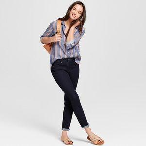 New Women's High Rise Skinny Jeans | Dark Wash
